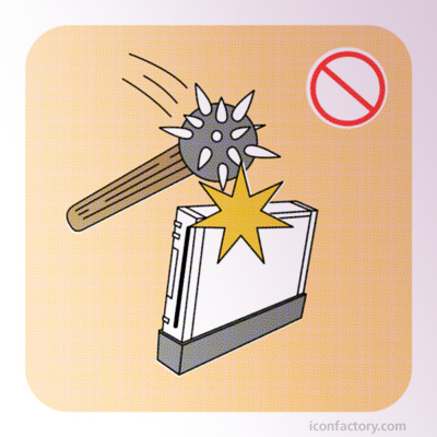 "Image from ""The Missing Pages"" of the Wii Safety Manual Flickr Group"