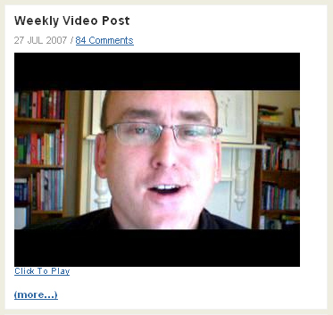 ProBlogger Weekly Video Post