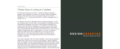 Thirteen Ways of Looking at a Typeface