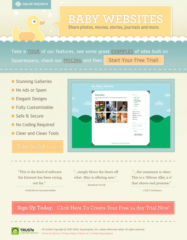 Baby Websites by Squarespace