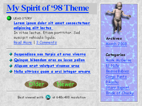 Spirit of '98 WordPress Theme